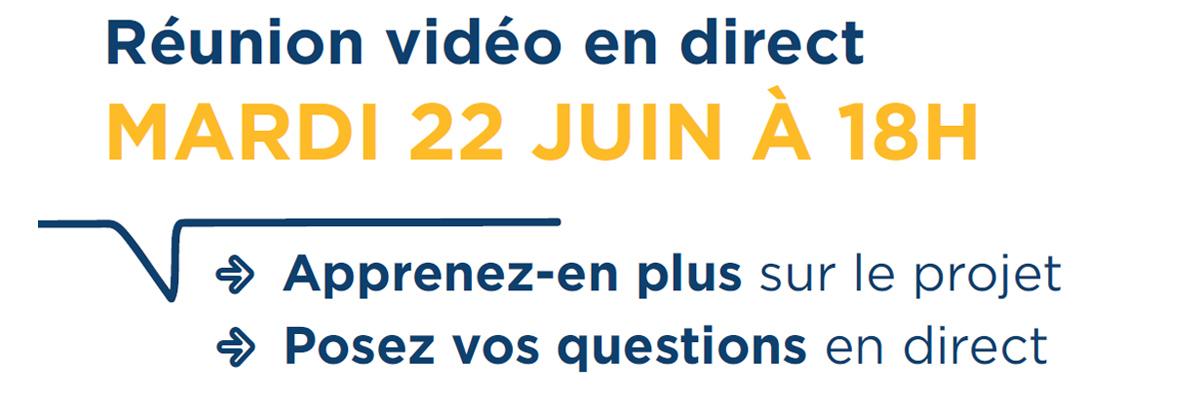 Le Lac – Réunion vidéo en direct Mardi 22 juin à 18h